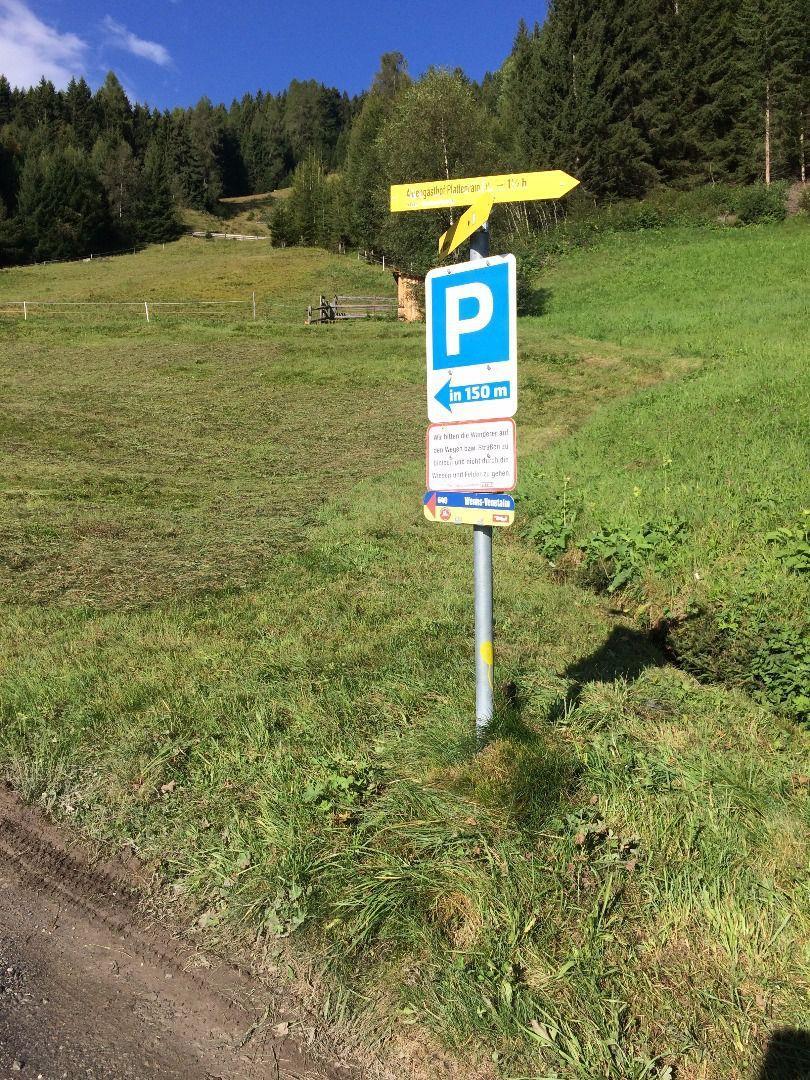 Wenns Parkplatz Audershof