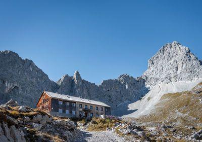 Lamsenjochhütte amid the Karwendel Mountains