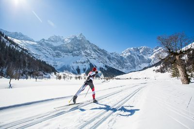 Cross-country skiing at the Risstal