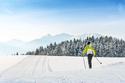 Cross-country skiing at Vomperberg