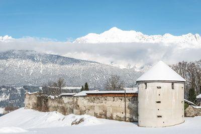 Ruine Rettenberg im Winter