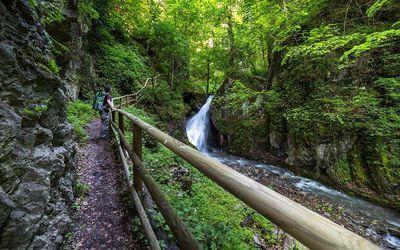 Walk to the Bucher Waterfall 1