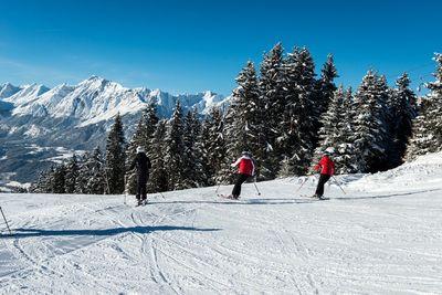 Skifahren beim Hüttegglift am Weerberg