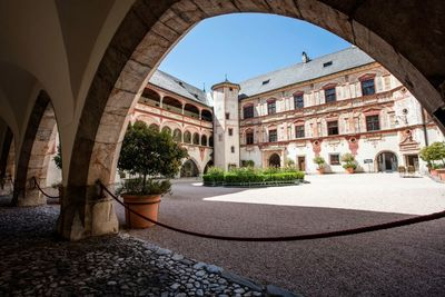View into the inner courtyard