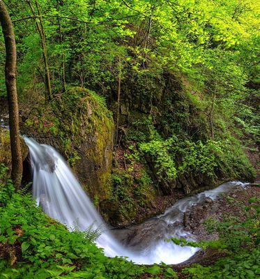 Waterfall in Buch 2