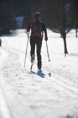 Cross country skiing at Hochpillberg