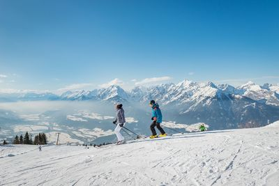 Panorama skiing at the Kellerjoch