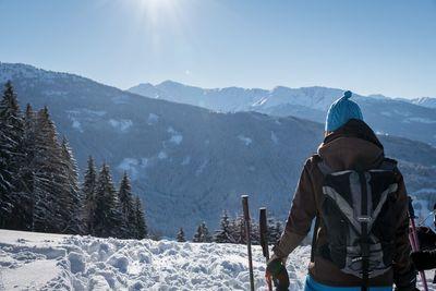 Schneeschuhwanderung Kleine Familienstrecke Hochpillberg 3