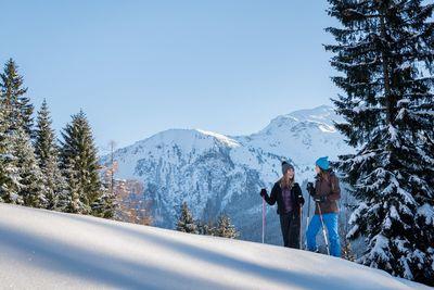 Schneeschuhwanderung Kleine Familienstrecke Hochpillberg 2