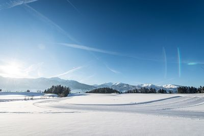 Cross-country ski track at Vomperberg