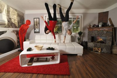 House Upside Down living room