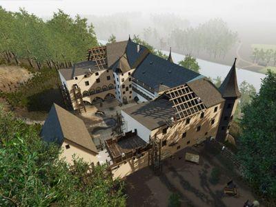 View of Schloss Tratzberg Castle with VR-glasses