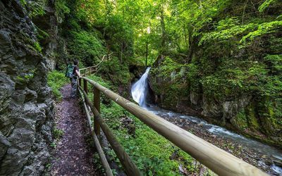 Spaziergang zum Bucher Wasserfall